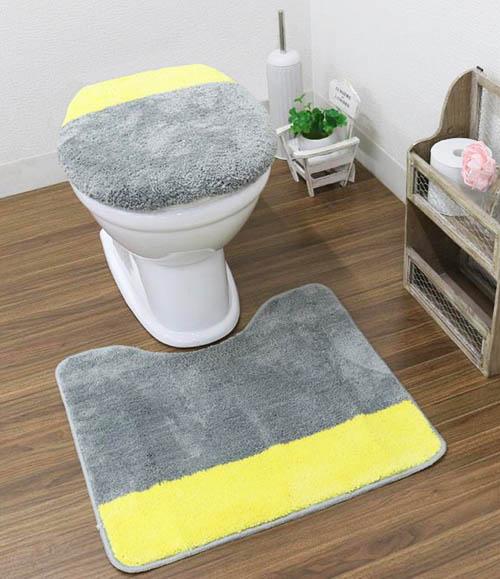 ビビッドな挿し色が華やかな、At homeカラーズトイレ2点セット