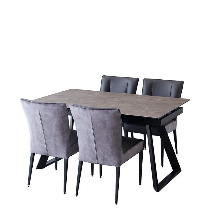 【ご案内ページ 椅子4脚宅配】シュタイン 伸長式ダイニングテーブル&チェア4脚セット