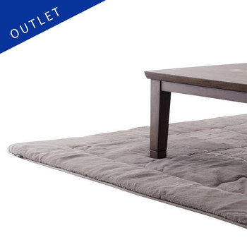 【OUTLET】こたつ敷布団 ラビットファー+3℃ 正方形 190cm×190cm GY